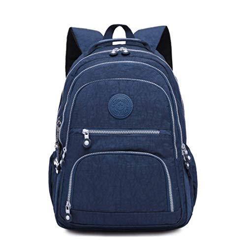 Mochila de Viaje Ligera para computadora laptop para Mujer,Bolsa Escolar (Azul)