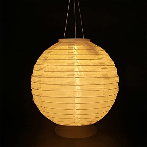 2 Stuck Led Lampions Laterne Solarbetrieben Solar Chinese Lantern Wasserdichte 8-zoll-led-dekorleuchte Hängende Orientalische Gartenlaterne(weiß)