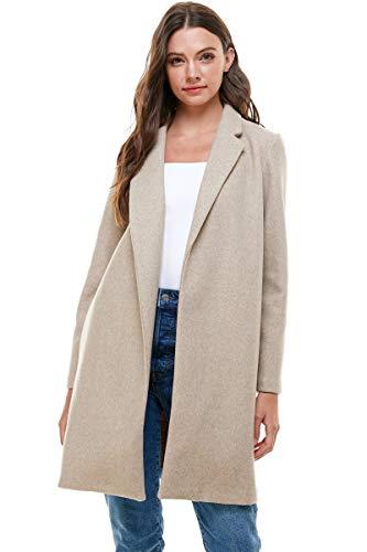 Besooly Women Coat Keep Warm Windbreaker Outwear Warm Wool Slim Long Coat Jacket Trench (5XL, Multicolor)