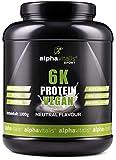 PROTEINPULVER Neutral VEGAN - 6K Protein 1 Kg - 82,9% Eiweiß-Shake ohne Süßstoff - zuckerfrei / fettfrei /...