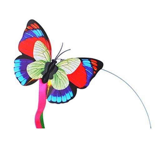 Gwendoll Divertido Juguete de Gato de Mariposa Giratorio eléctrico con Dos Mariposas Intermitentes de Repuesto Juguete de Gato Interactivo Juguete Giratorio de Juguete