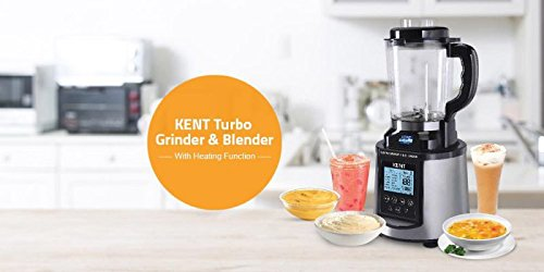 Kent Turbo Grinder and Blender with Heating Function, Steel Grey