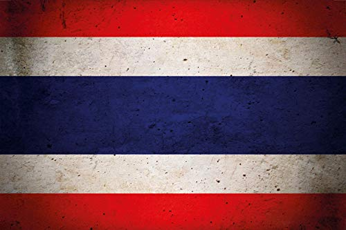 FS land vlag Thailand nationale vlag metalen bord bordje gewelfd Metal Sign 20 x 30 cm