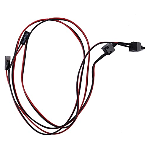 Kuinayouyi Paquete de 2 2 Pines SW PC Cable de AlimentacióN Encendido/Apagado BotóN Pulsador ATX Interruptor de Computadora Cable 45Cm