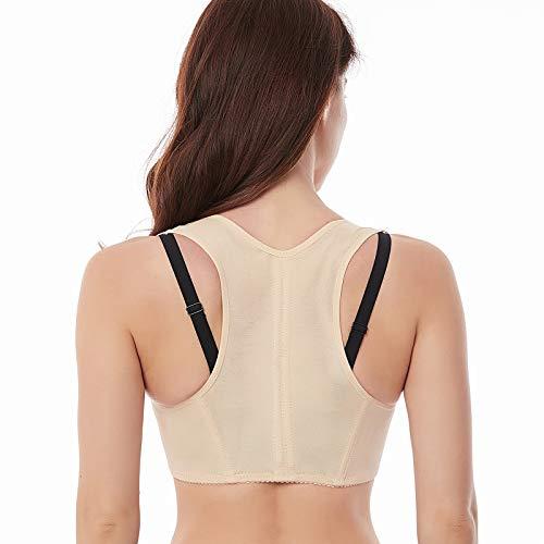 Werena Chest Brace Up for Women Posture Corrector Shapewear Tops Back Brace Support Bra Shaper X-Strap Vest (Beige#10, Medium)