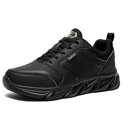 Botas De Tobillo De Gran Tamaño for Hombres Moda Zapatos Altos Altos Deportes Al Aire Libre Cuero Genuino De Cordón De Cuero for Arriba Plataforma De Punta Redonda Antideslizante
