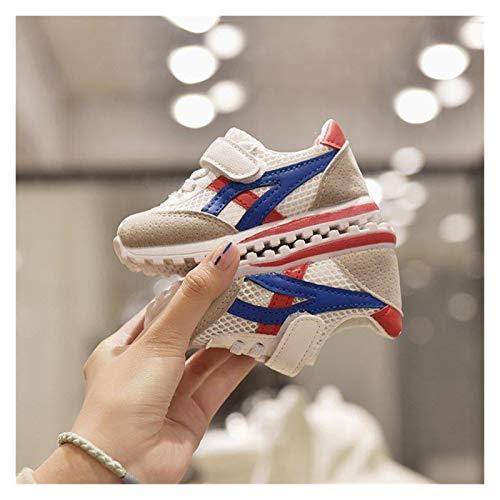 Youpin Zapatos de bebé para niños, zapatos deportivos para niños, niñas y bebés, zapatillas de deporte de moda, casual, zapatos suaves (color: rojo neto, tamaño del zapato: 30 (plantilla de 18,4 cm)