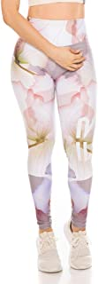 Fiber Colombian Leggings for Women Womens Gym Running and Yoga Workout Tights