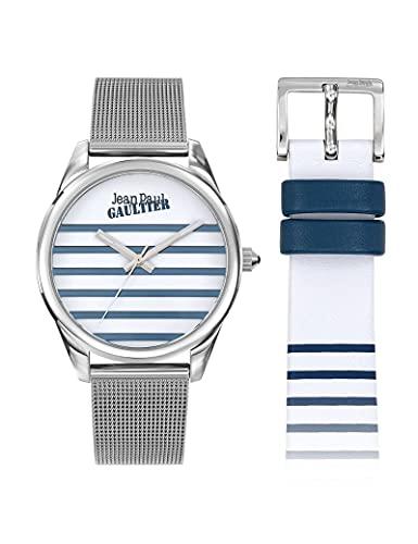 Reloj moderno de malla Milanesa para mujer, color plateado
