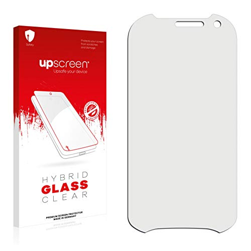 upscreen Hybrid Glass Panzerglas Schutzfolie kompatibel mit RugGear RG720 9H Panzerglas-Folie