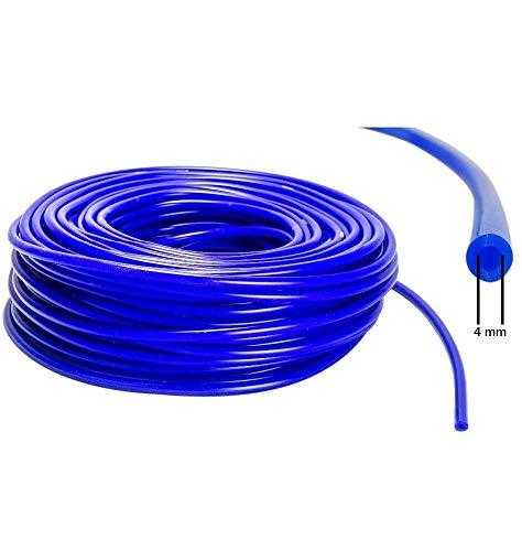 Preisvergleich Produktbild 4mm ID - 3m Silikon Unterdruck Schlauch Vacuum Steuer Leitung - Blau