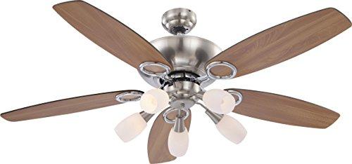 Deckenventilator Ventilator mit Zugschalter Beleuchtung Globo Jerry 0337/ 034037