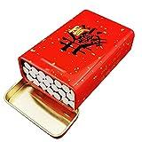 QLIGHA Caja de Cigarrillos Cuadrada de Hierro Forjado para Hombre, Caja de Cigarrillos Creativa integrada de Metal Plegable portátil con Capacidad para 20 Cigarrillos ordinarios