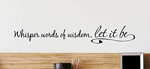 (34x5) Whisper words of wisdom let it be cute wall vinyl decal inspirational Quote motivational Art Saying lettering music stencil Sticker wall decor by Ideogram Designs