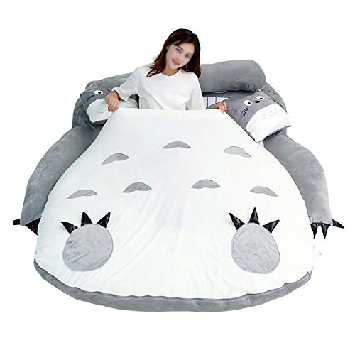 GAOXIAOMEI Plush Sleeping Bag Sofa Bed Double Foam Bean Bag Cartoon Mattress Cushion for Kids Tatami Bed,Xmas Gift,2.0 * 1.3m