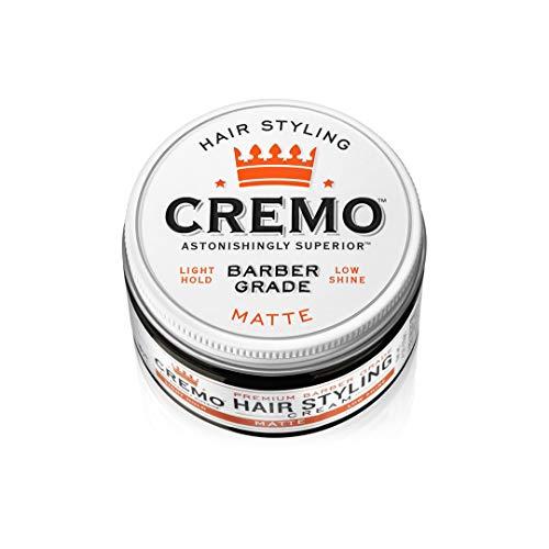 Cremo Premium Barber Grade Hair Styling Matte Cream, Light Hold, Low Shine, 4 Oz