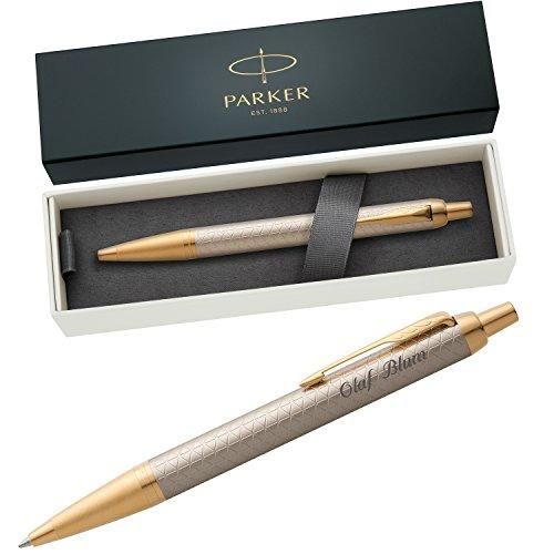 PARKER Kugelschreiber IM PREMIUM Warm Silver G.C. 1931687 mit persönlicher Laser-Gravur