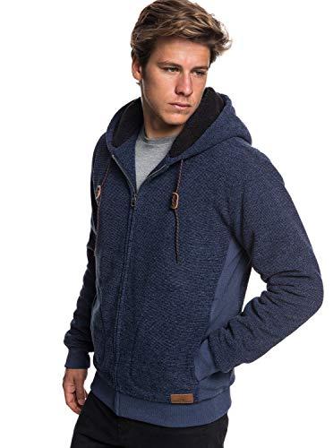 Quiksilver Keller Sweat-Shirt à Capuche Homme Bleu (Navy Blazer Heather Byjh) Small