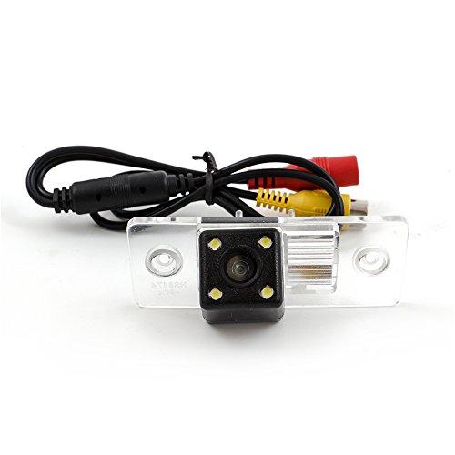 Kunfine Caméra de recul HD pour Volkswagen Touareg/Tiguan/Santana/Passat/Polo 2008/2009 Caméra d'aide au stationnement Vision nocturne Lumière LED étanche
