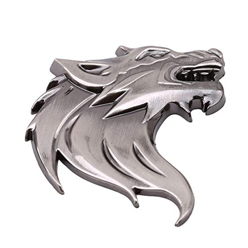 Winwinfly 3D Metal Car Sticker Wolf Head Motorcycle Decal Windshield Emblem Badge Reflective Car Styling