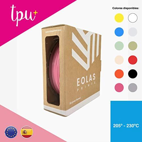 EOLAS 3D Flexible Filament 100% TPU+, Made in Spain, Food Safe, Toys Safe Certified, 2,85mm / 1Kg, pink, 2018