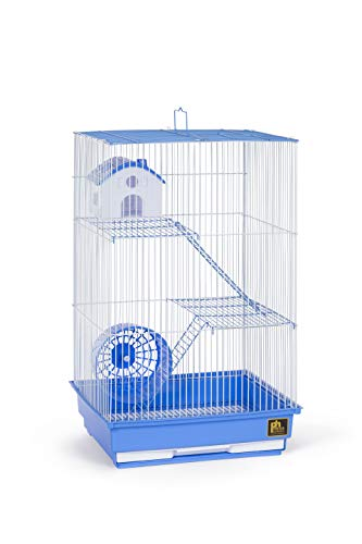 Prevue Pet Products Three-Story Hamster & Gerbil Cage Blue & White SP2030BL