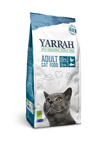 3+3 Promo - Yarrah Bio Katzenfutter trocken, 6 x 800g   Hochwertiges Premium Trockenfutter für Katzen   Hoher Nährstoffanteil   Futter für Katzen ab 12 Wochen mit Bio-Huhn und MSC Fisch