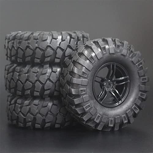 MZWNQ 3 Piezas de Goma 108mm 1,9 `` Insertos de Esponja de neumático de Oruga de Roca Incluidas llanta de Ruedas para Escala 1:10 para Coche Modelo RC Tamiya CC01 D90