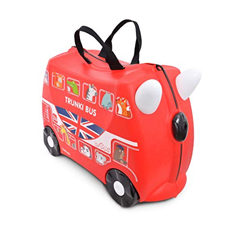 Trunki Trolley Kinderkoffer, Handgepäck für Kinder: Boris the Bus (Rot)
