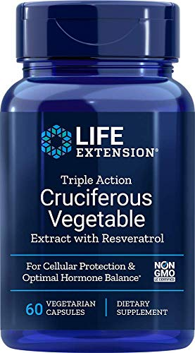 Life Extension Triple Action Cruciferous Vegetable Extract w/ Resveratrol, 60 Vcaps by Life Extension