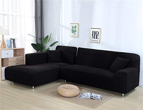ASCV Fundas de sofá Lisas para Sala de Estar Funda de sofá de Forro Polar elástico Funda de sofá de Esquina Funda Protectora de sofá seccional en Forma de L A1 3 plazas