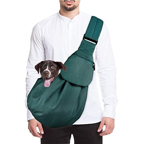 Lukovee Hunde Tragetasche,Katzen Single-Schulter Hundetragebeutel Schleuderträger Schultertasche Verstellbare Gepolsterte Schultergurt mit Fronttasche hundetragebeutel