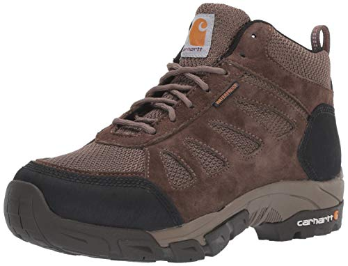 Carhartt Women's Lightweight Wtrprf Mid-Height Work Hiker Soft Toe CWH4120 Industrial Boot, Brown Brushed Suede/Nylon, 7.5 M US