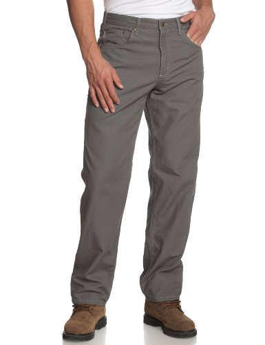 Carhartt Men's Loose Fit Five Pocket Canvas Carpenter Pant B159, Charcoal, 38W X 32L