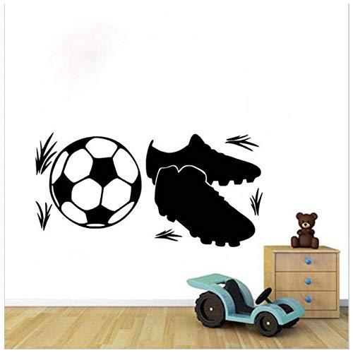 Sneakers en voetbal muursticker voor kinderen kamers verwijderbare zelfklevende behang 58X116Cm
