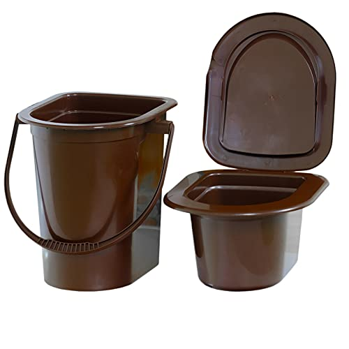 4BIG.fun Tragbare Camping Toilette 17 L Reisetoilette bis 140 kg Klo WC Outdoor Reise Eimer LKW Zelten Campen Mobile Toilette