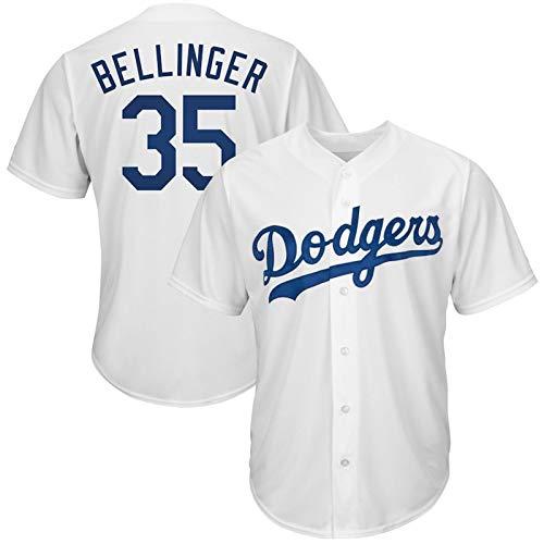 GBY, Inc. Dodgers Classic Blanco Baseball Jersey, Jersey de béisbol de Dodgers, Ventiladores Uniforme de béisbol, Ropa Deportiva de Bordado Transpirable y Colorido (S-XXXL) 35White-XL