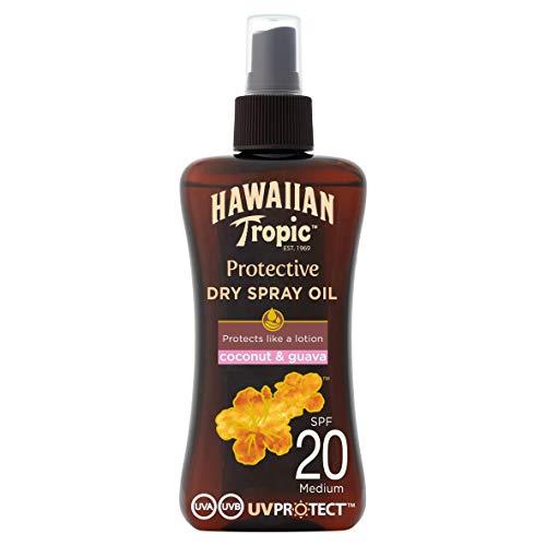 HAWAIIAN Tropic Protective Aceite Seco Bronceador Spf 20 con Protección Media, Fragancia de Coco y...