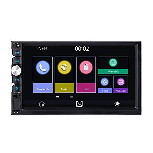 LEXXSON Autoradio 2 DIN 7 pollici con Autoradio Carplay FM Bluetooth Connessione telefonica a ricarica rapida Mirroring del telefono Controllo del volante Controllo vocale Immagine inversa HD