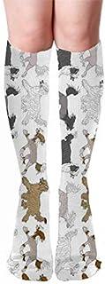 hgdfhfgd, Trote chino crestado borde vertical blanco ocio y calcetines deportivos cómodos