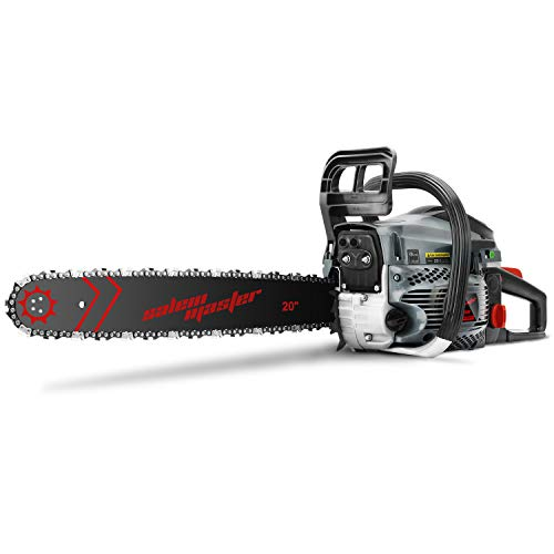 SALEM MASTER 5820F 58CC 2-Cycle Gas Powered Chainsaw, 20-Inch Chainsaw, Handheld Cordless Petrol Gasoline Chain Saw for Farm, Garden and Ranch…