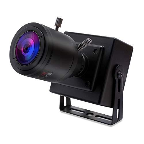 SVPRO Zoom manual con zoom USB, 2,8-12mm lente varifocal 1080P FHD USB webcam, 2MP High Frame 100pfs VGA Mini Camera USB 2.0 Portable USB Camera con UVC Plug & Play para Android Linux Windows Mac
