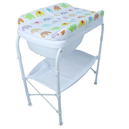 Baby Windel Wickeltisch Neugeborene DuschtöPfe, Roller Faltbar Und Dreischichtiges Wasserdichtes Countertop-Design Geeignet FüR Die Verwendung Unter 35 Monaten