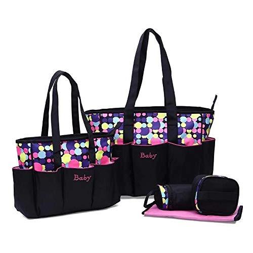 Lot de 5 sacs à langer multifonction pour bébé - Sac à langer étanche
