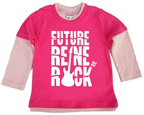 Dirty Fingers Future Reine du Rock Double Haut Patineur de Couleur Rose Foncé et Rose 18/24 Mois