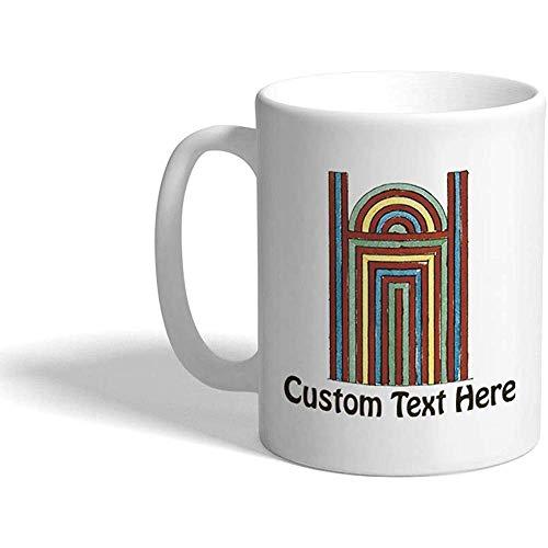 Gewohnheit Kaffeetasse 330 ml Ägyptische Tür-Vintage keramische Tee-Schale personalisierter Text