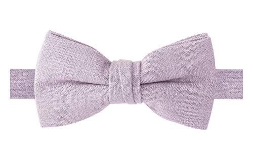 Spring Notion Boys' Linen Blend Bow Tie, Dusty Lavender S