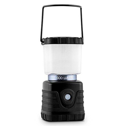 Yukatana Yaries Linterna para Camping LED (600lm Potencia lumínica, Material ABS, luz de Suelo o Mesa, asa Plegable, Gancho Transporte, Varias Funciones, Farol Acampada o jardín, Negro)