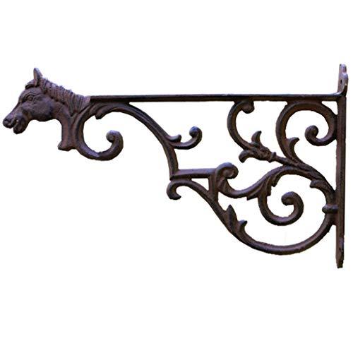 Plant Stand Bloem Stand Paard Hoofd Muur Opknoping Outdoor Balkon Opknoping Mand Rack Smeedijzer