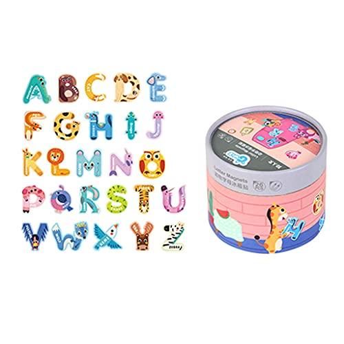 MIORIO Imanes de Nevera Montessori imanes de Nevera de Dibujos Animados Pegatinas magnéticas Fuertes Juguete de cognición de Aprendizaje temprano niños 1 año +